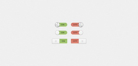 On/Off Switches and Toggles (PSD)