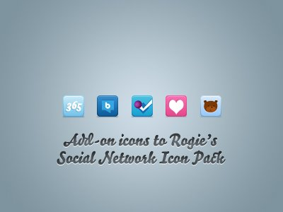 Iconos Add-on Pack de iconos de redes sociales de Rogie\