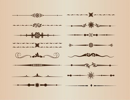 Vector Set of Decorative Design Divider Elements