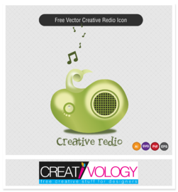 Creative 3D Radio Icon