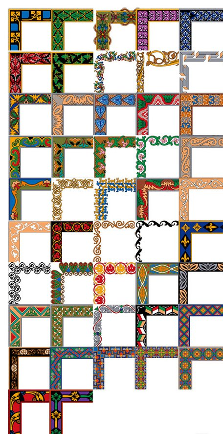 Simple and practical border Vector Series -4 (47P)