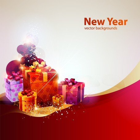 New Year Theme Vector Cool Glare