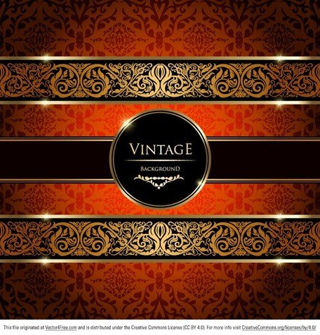 Ouro do damasco Vintage Background