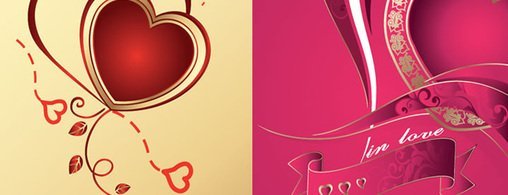 Free Vector: Two Heart Designs