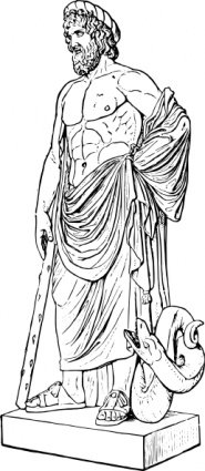 Asclepius standbeeld