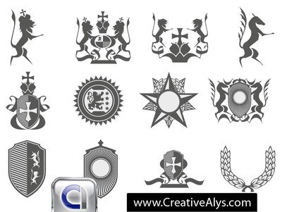 Heraldiska logotyp Element Pack