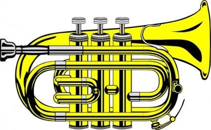 Pocket Trumpet B Flat (colour)