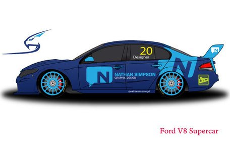 Ford V8 Supercar Free Vector Template