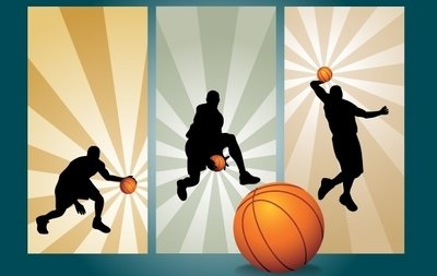 Basket-ball jouant mouvement Silhouette