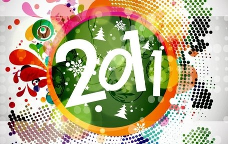 2011 New Year Floral Backgound Vector Graphic New Year Holidays