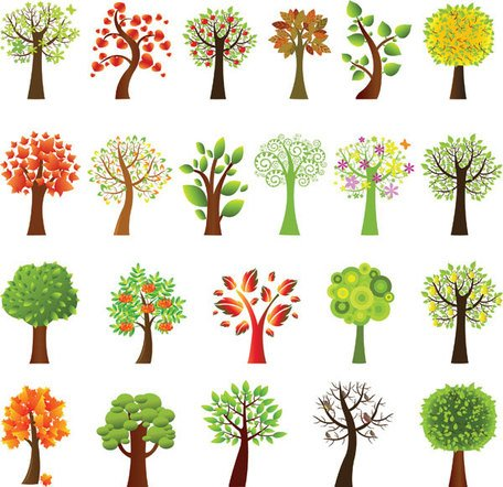 Beautiful Vector Tree Designs