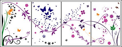 Pattern, butterfly, dynamic lines, material