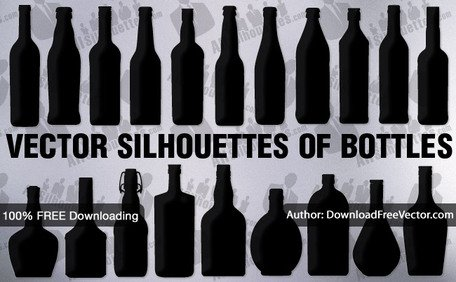 20 Vector bottle silhouettes