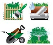 Tuin thema pictogram