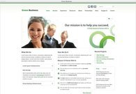Green Business Free PSD Template