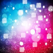 Colorful Glowing Background with Cubes & Bubbles