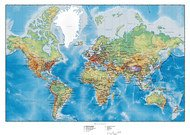 Map Of The World With Hilly Terrain Vector Plans Map