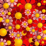 Beautiful red flower background