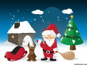 Cartoon Christmas Scene Illustration