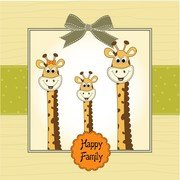 Giraffa Greeting Card 01