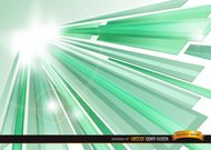 Green Crystal Sun Beams background