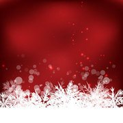 Abstract Winter Snowflake Background