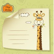 Giraffa Greeting Card 04