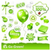 beautiful green icon