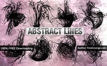 8 lignes de abstract Vector