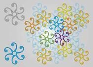 Swirling Floral Designs