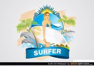 Surfer Girl Wallpaper