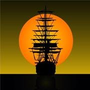 SAILING SHIP VECTOR CLIP ART.eps