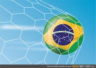 Brazil 2014 worldcup football in the net