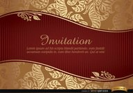 Marriage invitation with riband and pattern
