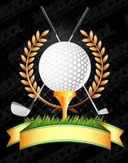 Golf Theme Vector graphic material