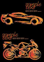 Stroke cars and motorcycles