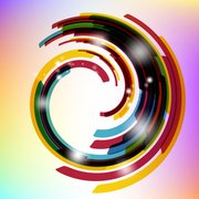 Colorful Rounded Stripy Warp Background