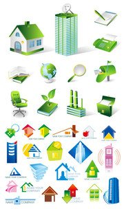 House icon vector material property subject