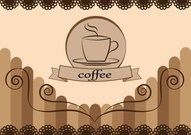 Coffee Free Vector Card Design