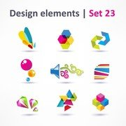 Beautiful Color Threedimensional Logo 05