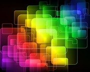 Abstract Colorful Squares Editable