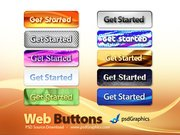 Abstract web buttons (PSD)