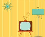 Cartoon TV and other interior decoration material