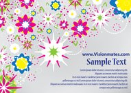 Abstract Flowers Vector Card