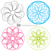 Vector Circle Decorative Design Elements Set-2