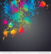 Bright Colorful Splatter