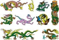 Chinese Classical Dragon Vector Of The Seven