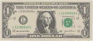 One American Dollar Bill