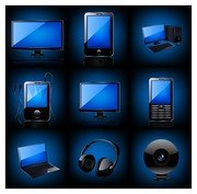 blue technology products icon