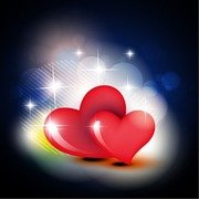 Beautiful Red Heart Vector Design Background